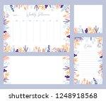 cute vector winter weekly... | Shutterstock .eps vector #1248918568
