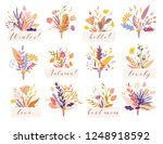 cute and elegant vector floral... | Shutterstock .eps vector #1248918592