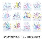cute and elegant vector floral... | Shutterstock .eps vector #1248918595