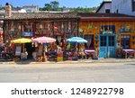 colorful souvenir shops in...   Shutterstock . vector #1248922798