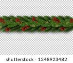 christmas border. winter... | Shutterstock .eps vector #1248923482