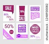 sale template. flyer. vector... | Shutterstock .eps vector #1248930082