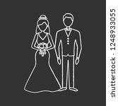 bride and bridegroom chalk icon.... | Shutterstock .eps vector #1248933055