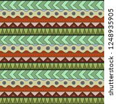 abstract seamless ethnic... | Shutterstock .eps vector #1248935905