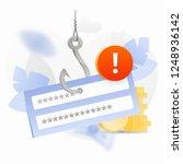 password phishing alert vector...   Shutterstock .eps vector #1248936142