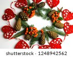 christmas decorations on a...   Shutterstock . vector #1248942562