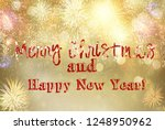 fireworks and bokeh lights... | Shutterstock . vector #1248950962