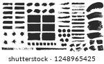 big set of grunge hand drawn... | Shutterstock .eps vector #1248965425