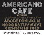 vintage font handcrafted vector ... | Shutterstock .eps vector #1248965902