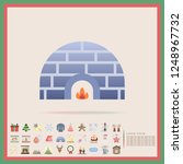 winter igloo flat design icon... | Shutterstock .eps vector #1248967732