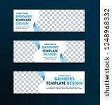 template of white web banners... | Shutterstock .eps vector #1248968332