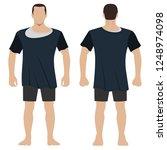fashion man body full length... | Shutterstock . vector #1248974098