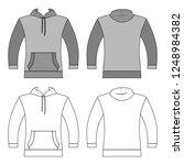hoodie man template  front ... | Shutterstock . vector #1248984382