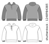 hoodie man template  front ... | Shutterstock . vector #1248984385