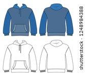 hoodie man template  front ... | Shutterstock . vector #1248984388