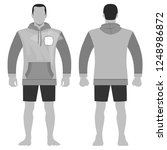 fashion man body full length... | Shutterstock . vector #1248986872