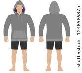 fashion man body full length... | Shutterstock . vector #1248986875