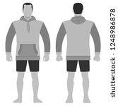 fashion man body full length... | Shutterstock . vector #1248986878