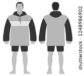fashion man body full length... | Shutterstock . vector #1248986902