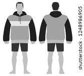 fashion man body full length... | Shutterstock . vector #1248986905