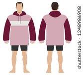 fashion man body full length... | Shutterstock . vector #1248986908
