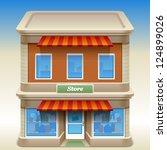 vector illustration of store | Shutterstock .eps vector #124899026