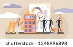 audit vector illustration. mini ... | Shutterstock .eps vector #1248996898