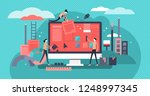 web design vector illustration. ... | Shutterstock .eps vector #1248997345
