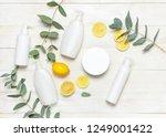 whites cosmetic bottle... | Shutterstock . vector #1249001422