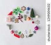 creative christmas ball made of ... | Shutterstock . vector #1249004632