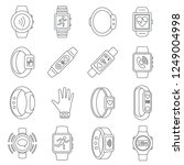sport fitness tracker wristband ...   Shutterstock .eps vector #1249004998