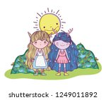 fantastic creatures girls with... | Shutterstock .eps vector #1249011892