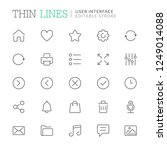 collection of user interface...   Shutterstock .eps vector #1249014088