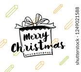 merry christmas. typography.... | Shutterstock .eps vector #1249021588