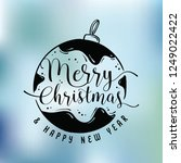 merry christmas. typography.... | Shutterstock .eps vector #1249022422