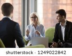 business people sitting on... | Shutterstock . vector #1249022842