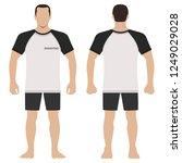 fashion man body full length... | Shutterstock . vector #1249029028