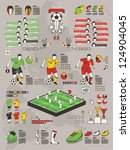soccer info graphic elements ... | Shutterstock .eps vector #124904045