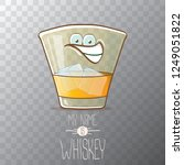 vector funny cartoon smiling... | Shutterstock .eps vector #1249051822