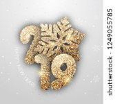 "vector ""new year"" card   happy... | Shutterstock .eps vector #1249055785"