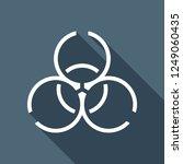 bio hazard icon. warning sign... | Shutterstock .eps vector #1249060435