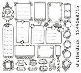 bullet journal hand drawn... | Shutterstock .eps vector #1249068715