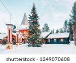christmas tree and santa claus... | Shutterstock . vector #1249070608