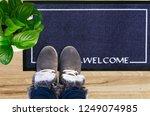 blank doormat before the door | Shutterstock . vector #1249074985