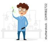 child scientist in the...   Shutterstock .eps vector #1249082722