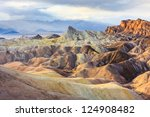 Eroded Mountain Ridges At...