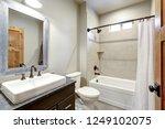 white and fresh bathroom...   Shutterstock . vector #1249102075