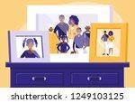 portrait of black family...   Shutterstock .eps vector #1249103125