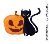 happy halloween celebration | Shutterstock .eps vector #1249110358