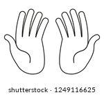 human hands on white background | Shutterstock .eps vector #1249116625